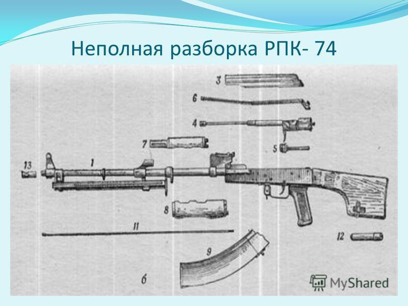 Неполная разборка РПК- 74