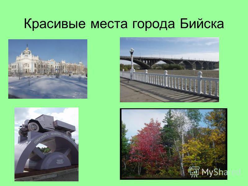 Красивые места города Бийска