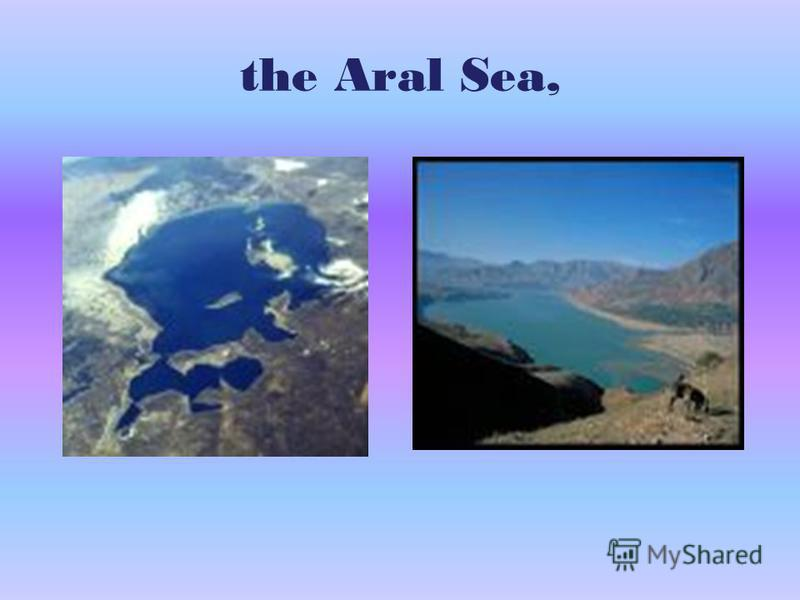 the Aral Sea,