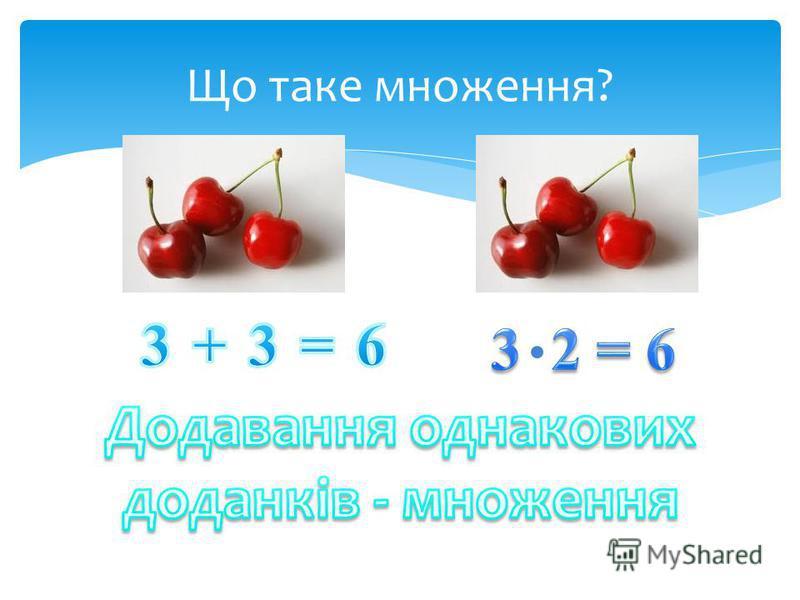 Що таке множення?