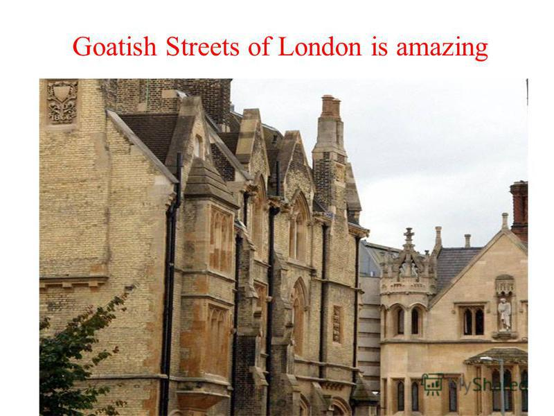 Goatish Streets of London is amazing