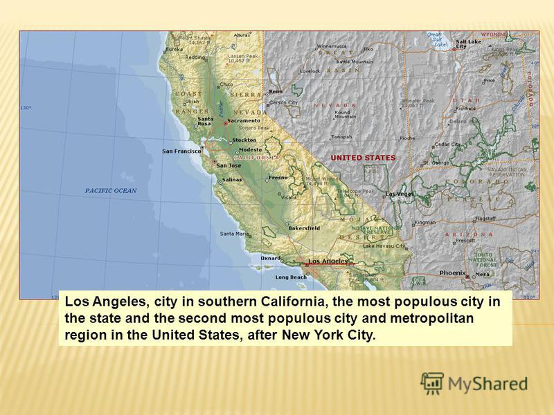 Los Angeles, city in southern California, the most populous city in the state and the second most populous city and metropolitan region in the United States, after New York City.