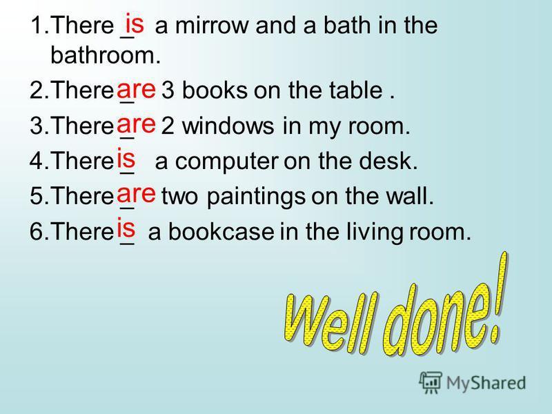 1.wardrobe-bed-sink-chair 2. fridge-book-table-cooker 3.sofa-washbasin-toilet-bath 4.arm-chair –carpet-garden 5.kitchen-bathroom-bedroom-garage