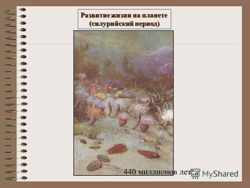 Развитие жизни на планете (силурийский период) 440 миллионов лет