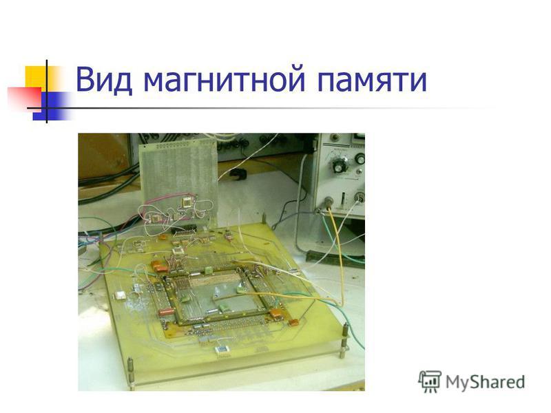 Вид магнитной памяти
