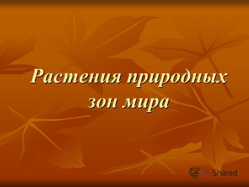 Растения природных зон мира