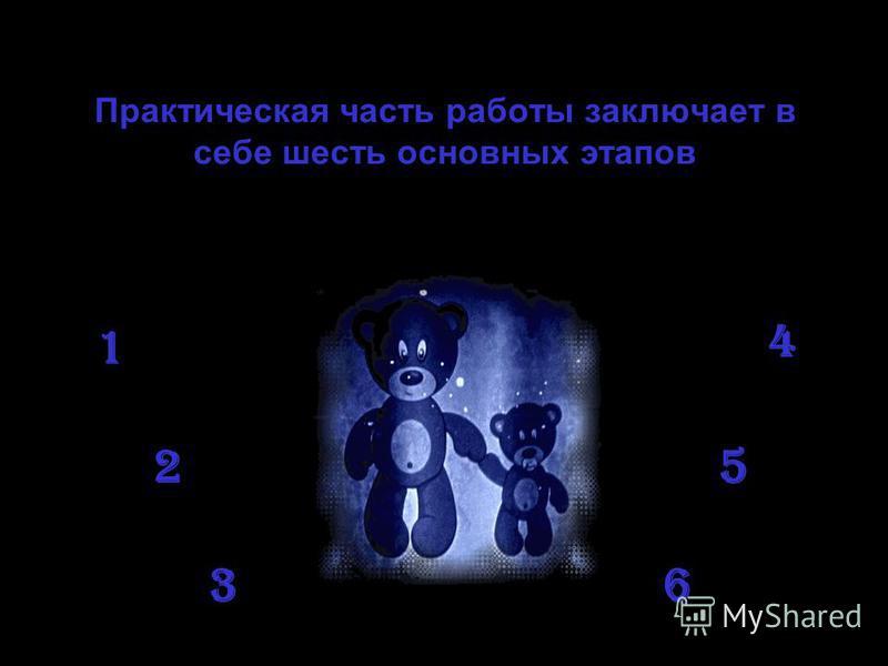 Практическая часть работы заключает в себе шесть основных этапов 1 2 3 4 5 6