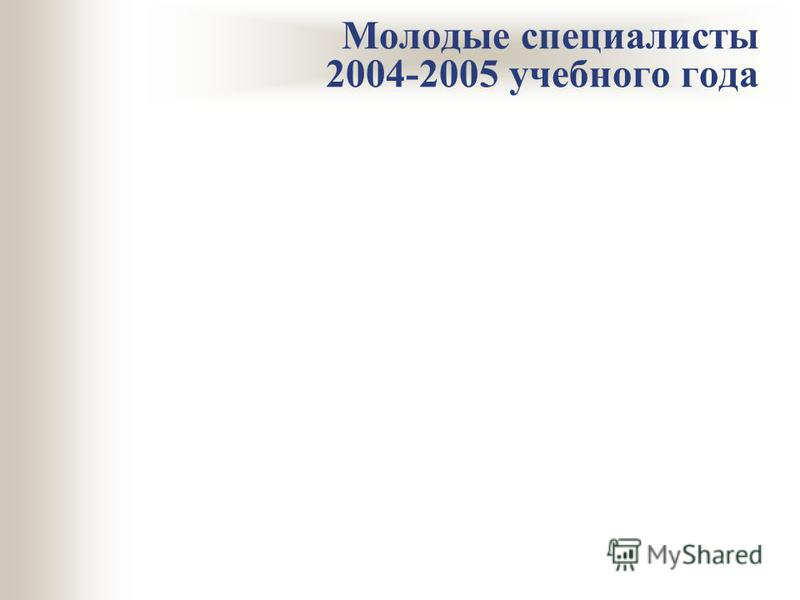 Молодые специалисты 2004-2005 учебного года