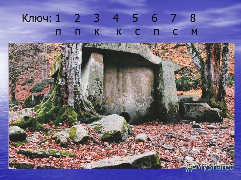Ключ: 1 2 3 4 5 6 7 8 п п к к с п с м