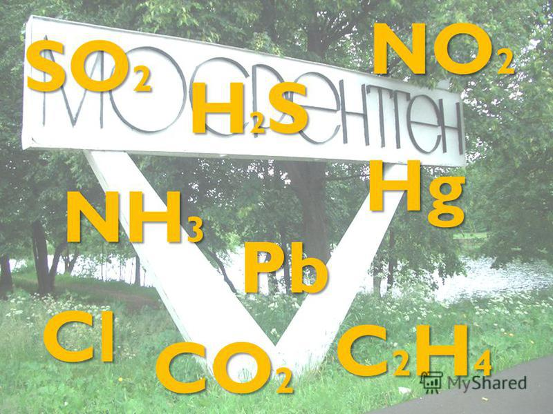 SO 2 H2SH2SH2SH2S NO 2 NH 3 Pb Hg C2H4C2H4C2H4C2H4 Cl CO 2