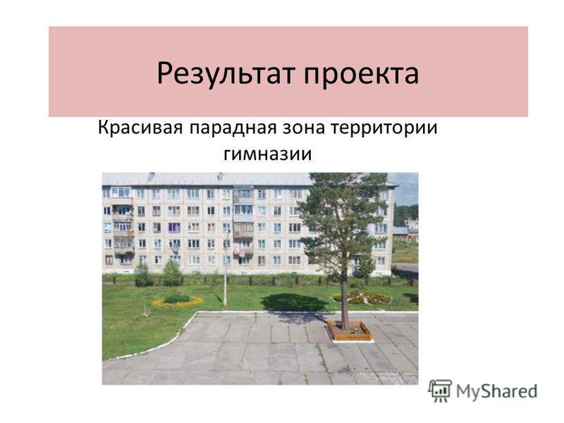 Результат проекта Красивая парадная зона территории гимназии