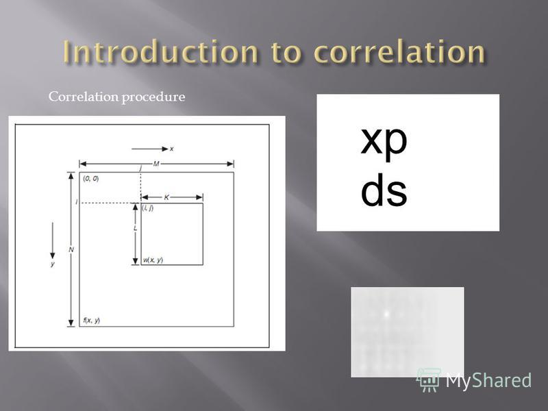 Correlation procedure