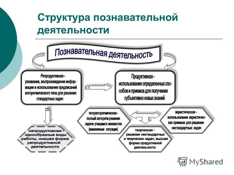 Структура познавательной деятельности