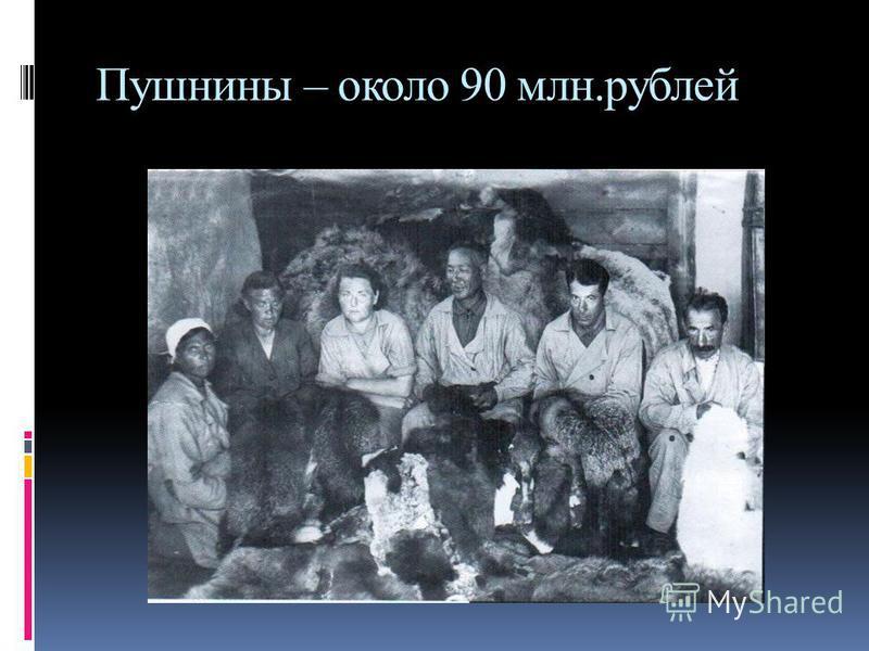 Силами трудящихся нашей республики для фронта было добыто: Золота и серебра – 553 кг Пушнины – около 90 млн.рублей Рыбы – свыше 40 тыс.тн