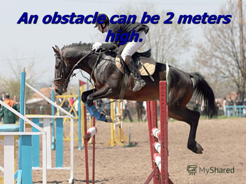 An obstacle can be 2 meters high.
