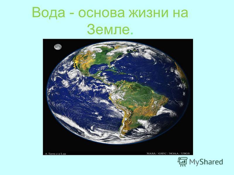 Вода - основа жизни на Земле.