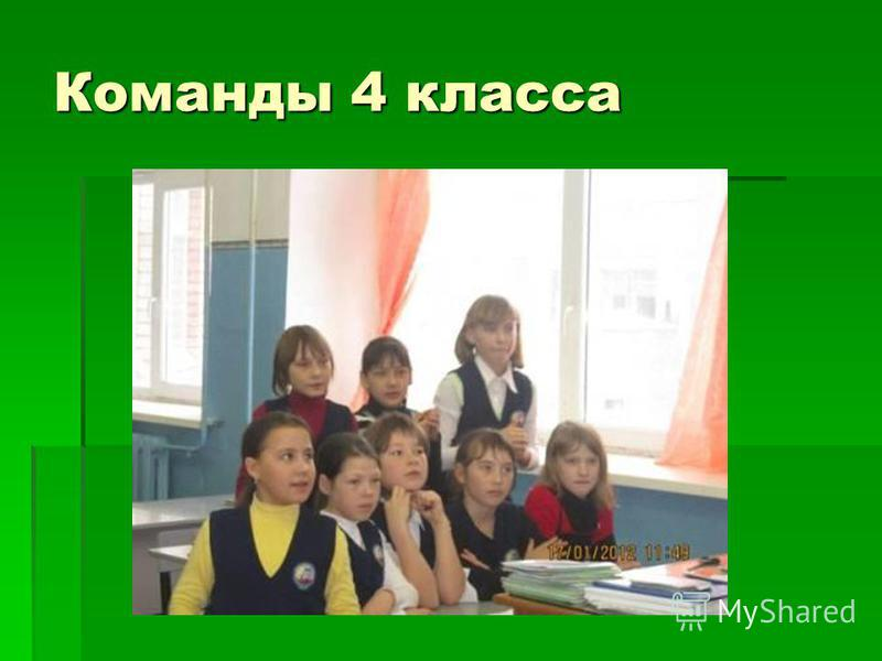 Команды 4 класса