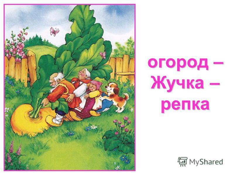 огород – Жучка – репка