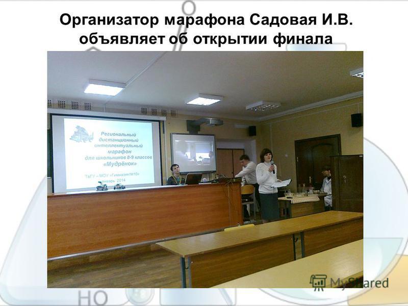 Организатор марафона Садовая И.В. объявляет об открытии финала