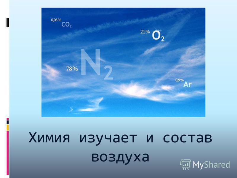 Химия изучает и состав воздуха