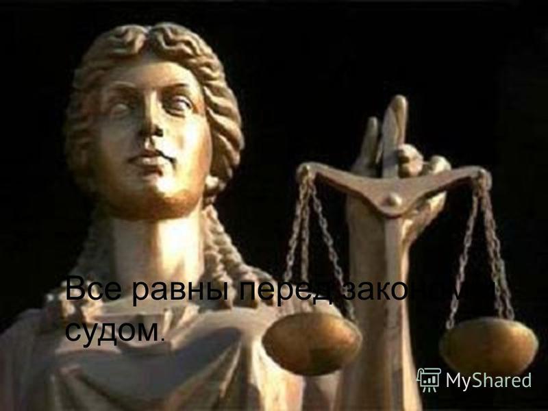 Все равны перед законом и судом.