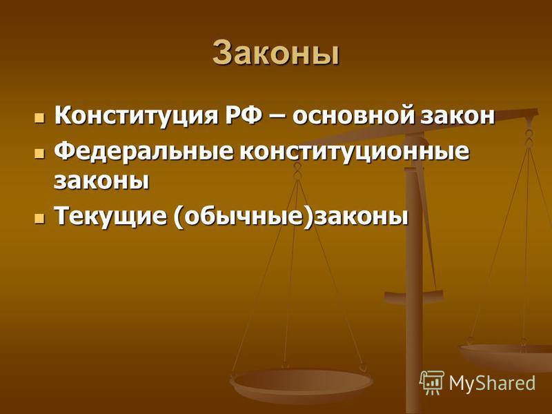 ПРАВО Это установленные государством правила поведения, исполнение которых регулируется государством Это государственный документ, содержащий правовые нормы Норма Это обязательные для всех правила поведения, которые нельзя нарушать Нормативные акты З