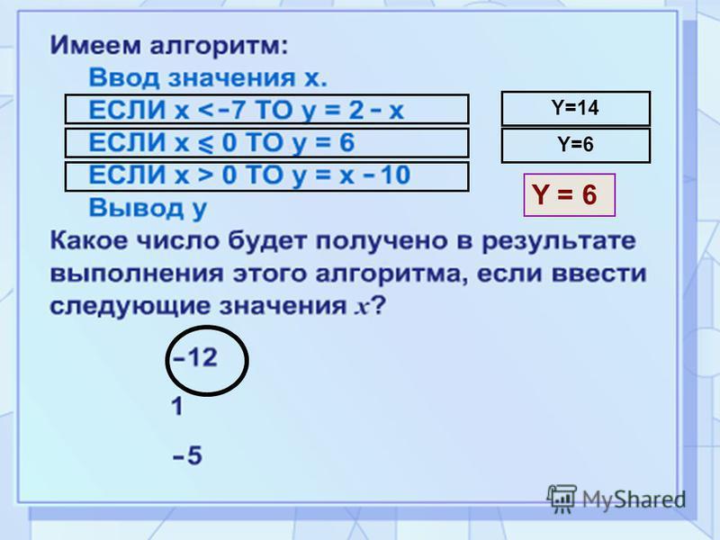 Y=14 Y=6