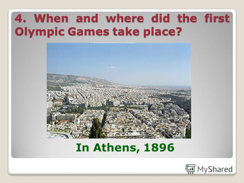 3. Why did the Olympic Games become the symbol of peace and friendship? For the period of games all the wars stopped