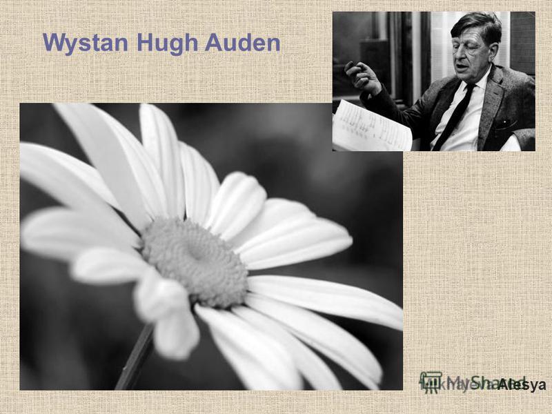 Mikhaleva Alesya Wystan Hugh Auden