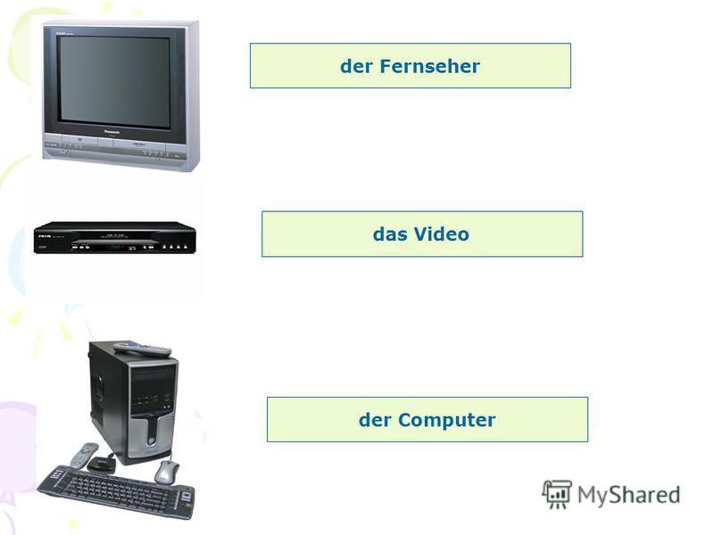 der Fernseher das Video der Computer