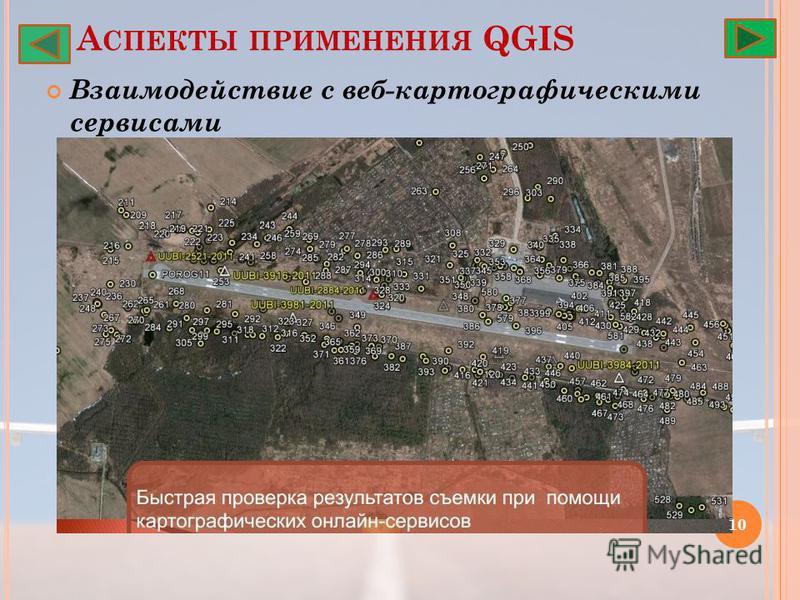А СПЕКТЫ ПРИМЕНЕНИЯ QGIS Взаимодействие с веб-картографическими сервисами 10