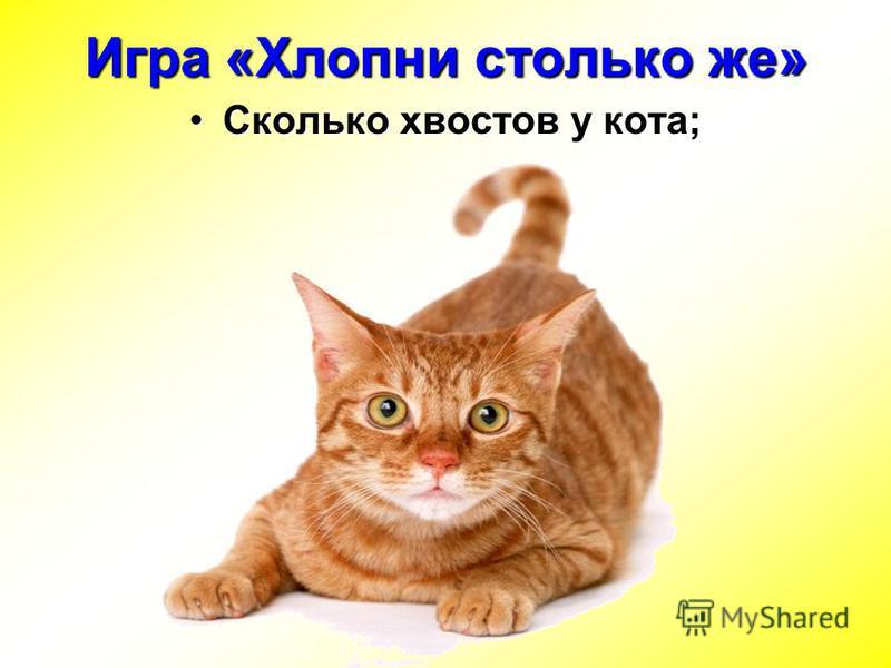 Сколько хвостов у кота;Сколько хвостов у кота; Игра «Хлопни столько же»