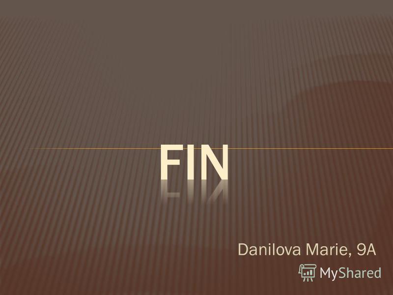 Danilova Marie, 9A