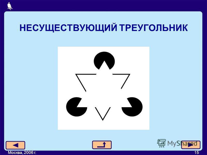 НЕСУЩЕСТВУЮЩИЙ ТРЕУГОЛЬНИК Москва, 2006 г.15