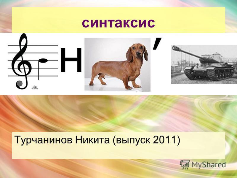 синтаксис Турчанинов Никита (выпуск 2011)