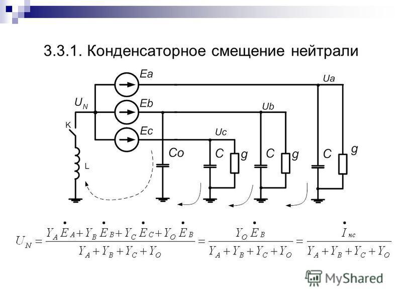 3.3.1. Конденсаторное смещение нейтрали