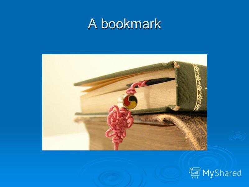 A bookmark