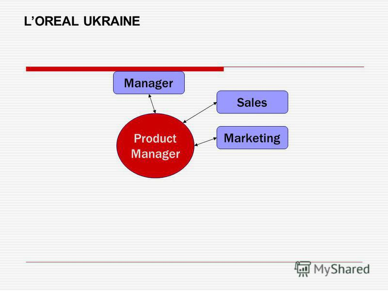 Product Manager Sales Marketing Manager LOREAL UKRAINE