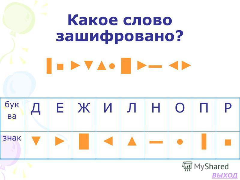 Какое слово зашифровано? бук ва ДЕЖИЛНОПР знак ВЫХОД