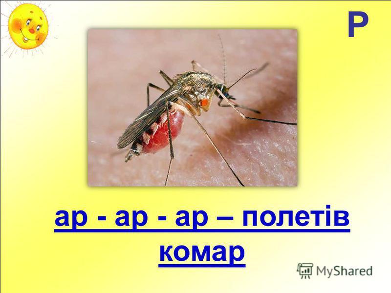 Р ар - ар - ар – полетів комар