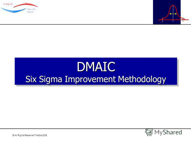 © All Rights Reserved TreQna 2005 DMAIC Six Sigma Improvement Methodology DMAIC