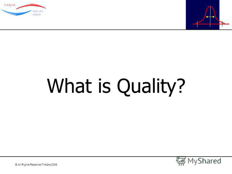 © All Rights Reserved TreQna 2005 What is Quality?