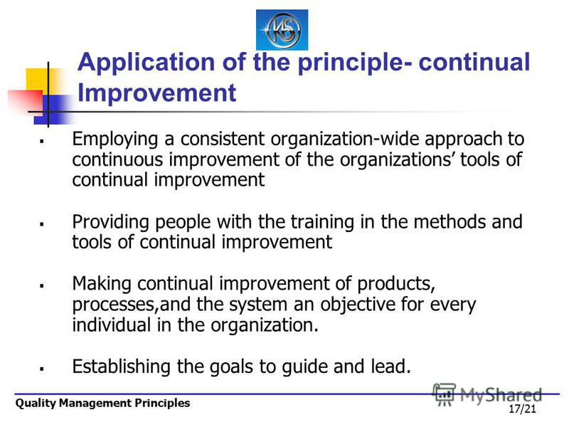 manage continuous organisational improvement in kfc Total quality management, which is frequently known by its acronym tqm, requires organizations to focus on continuous improvement, or kaizenit focuses on process improvements over the long term, rather than simply.
