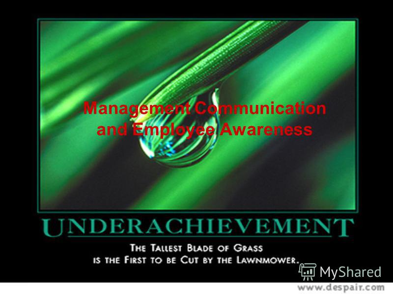Management Communication and Employee Awareness