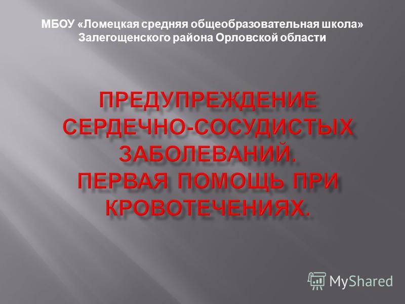 МБОУ «Ломецкая средняя общеобразовательная школа» Залегощенского района Орловской области