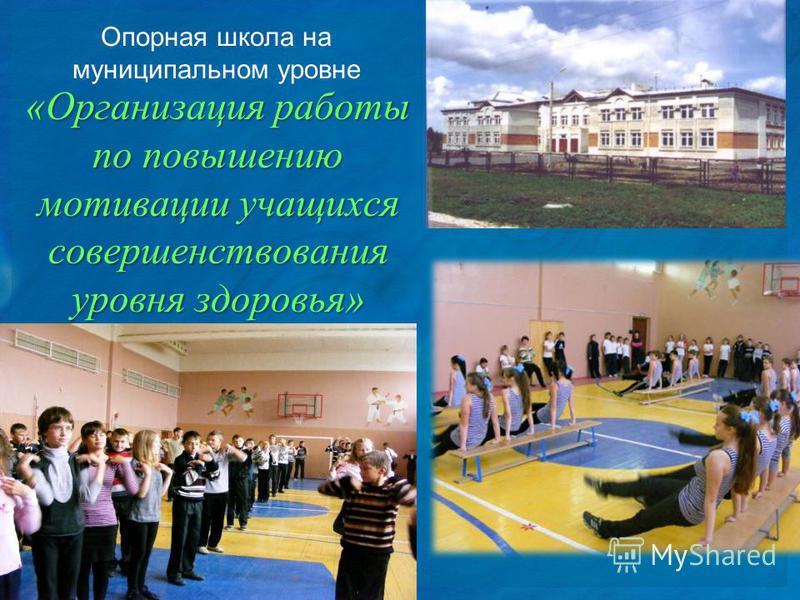 Опорная школа на муниципальном уровне «Организация работы по повышению мотивации учащихся совершенствования уровня здоровья»