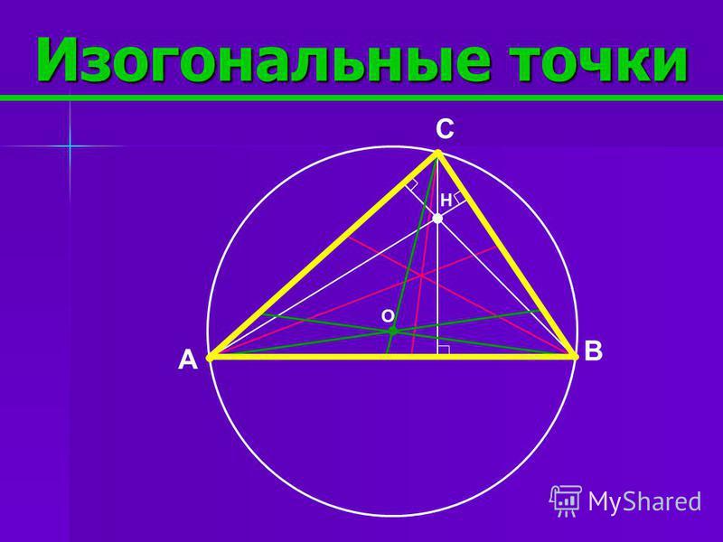 Окружность 9-ти точек 1 2 4 5 6 В 7 8 9 H F O A C OF=FH 3