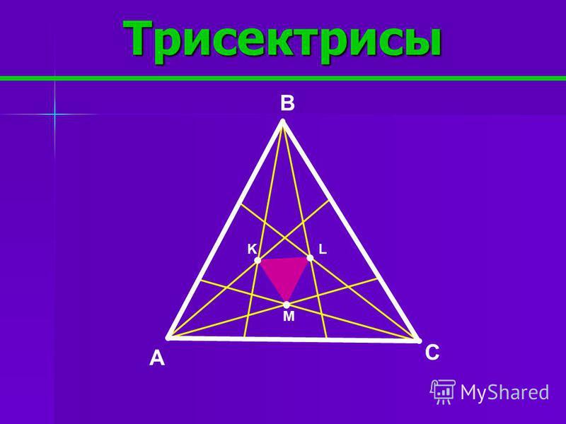 Точки Жергонна и Нагеля B AC J I M N NM:MI=2:1