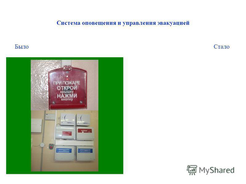 Система оповещения и управления эвакуацией Было Стало