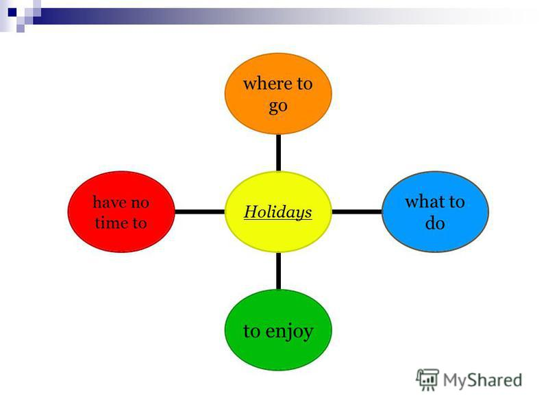 Holidays where to go what to do to enjoy have no time to